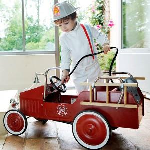 camion dei pompieri con campanella