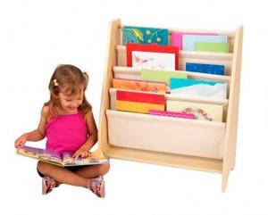Biblioteca di tasche colore naturale Kidkraft