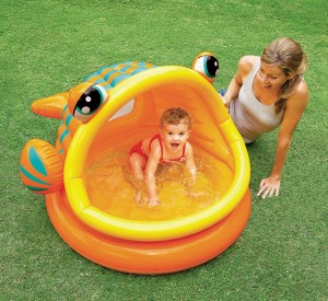 Piscina para bebés lazy fish shade Intex