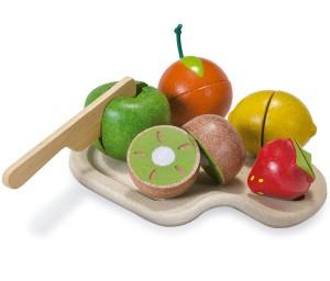 Surtido de frutas de madera para cortar Eurekakids