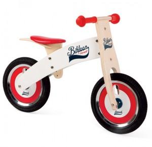 Janod - Bicicleta sin pedales bikloon rojo y blanco