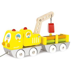 Brinquedos de construção - Caminhão com remolque de carga de 30cm Janod