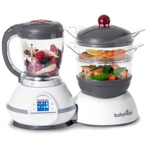 Nutribaby robot de cocina para comida de bebés cherry Babymoov
