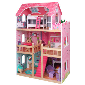 Casa grande de mu ecas - Juegos de decorar la casa de barbie con piscina ...