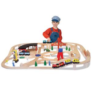 set-circuito-de-trenes-en-madera