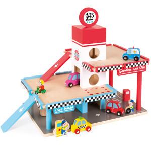 Garaje y coches de juguete