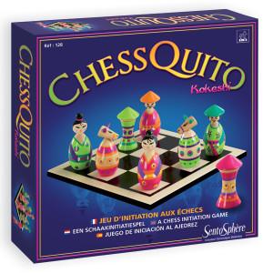 Juegos de estrategia ajedrez Chesquito kokeshi de Sentosphère
