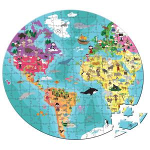 maleta-puzzle-208-pecas-criancas-e-aimais-do-mundo