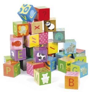 Cubos de letras para niños