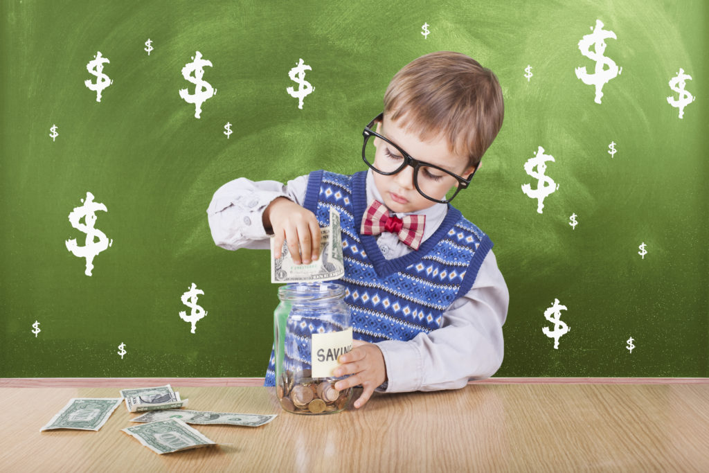 Valor del dinero en niños
